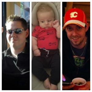 Photo collage. Left photo is of my brother Eddie. Middle photo is of my son Timothy Edward. Right photo is of my brother Tim.